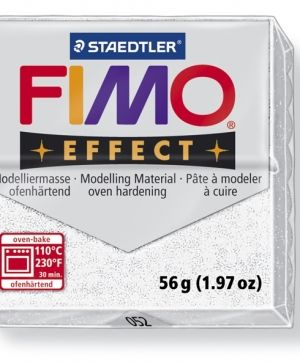 FIMO effect modelling clay 56g - glitter white 052 G8020052