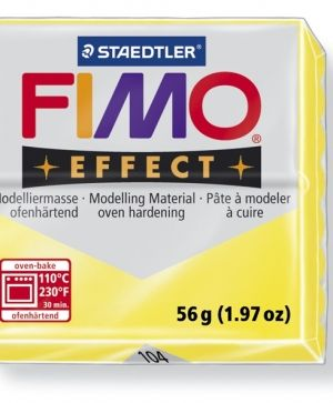 FIMO effect modelling clay 56g - translucent yellow 104 G8020104