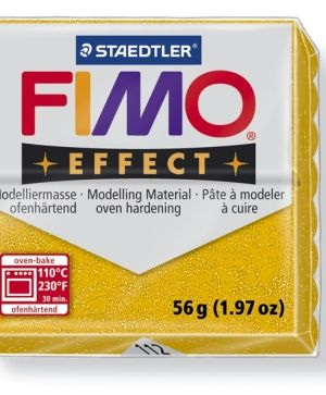 FIMO effect modelling clay 56g - glitter gold 112 G8020112