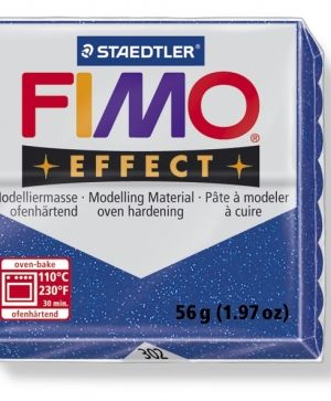 FIMO effect modelling clay 56g - glitter blue 302 G68020302