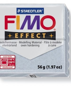 FIMO effect modelling clay 56g - glitter silver 812 G8020812
