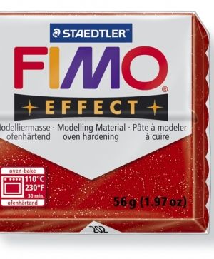 FIMO effect modelling clay 56g - glitter red 202 G8020202