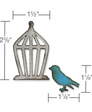 Sizzix Bigz Die - Mini Bird & Cage Set 657207