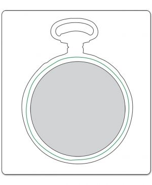 Sizzix Movers & Shapers Die - Pocket Watch Frame 658571