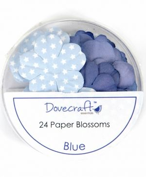 Paper blossoms 24pcs - Blue DCBB01-02