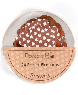 Paper blossoms 24pcs - Browns DCBB01-04