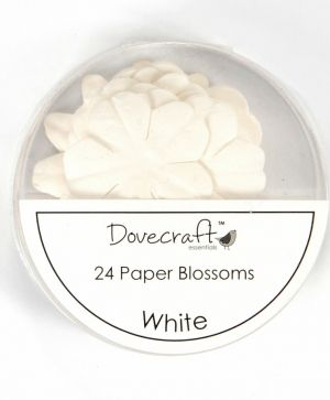 Paper blossoms 24pcs - White DCBB01-11