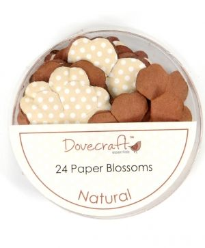 Paper blossoms 24pcs - Natural DCBB01-13