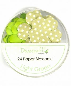 Paper blossoms 24pcs - Light Green DCBB01-14