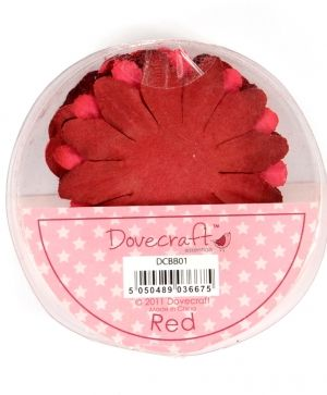 Paper blossoms 24pcs - Red DCBB01-15