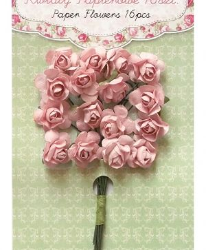 Paper flowers 16 pcs - Powder pink CEKP-006