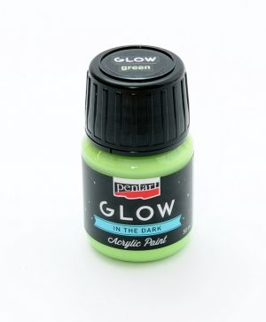 Acrylic paint glow in the dark 30 ml - green P16485