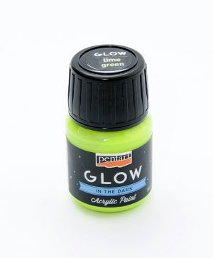 Acrylic paint glow in the dark 30 ml - lime P16480