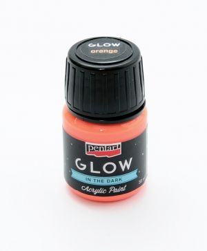 Acrylic paint glow in the dark 30 ml - orange P16481