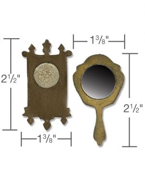 Sizzix Movers & Shapers Magnetic Die Set - Mini Mirror & Wall Clock 658724